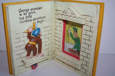 Curious George Gets A Job PHOTO FRAME 2 x 3 by Vandor Hmco 1997 Monkey