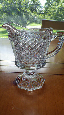 Westmoreland English Hobnail Creamer Hex Foot Clear Excellent condition
