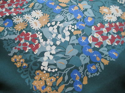 Large square scarf,approx 68 cm,  all over floral pattern, pure silk, vintage