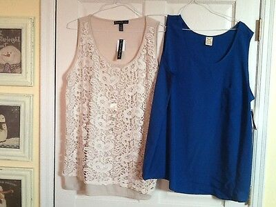 womens lot of 2 brand new tank tops size 3X