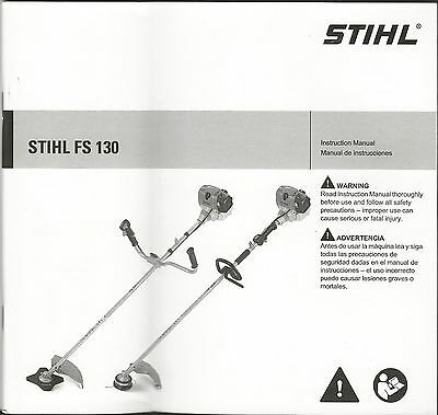 Stihl FS 130 String Trimmer Owner's / Instruction Manual - New