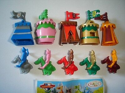 Kinder Surprise Set - Funny Castle Knights & Tents - Figures Toys Collectibles
