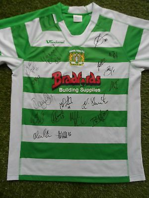 Yeovil Town Shirt Hand Signed by 2016/2017 Squad - 17 Autographs - Zoko, Khan