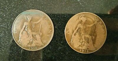 One penny King George v 1918