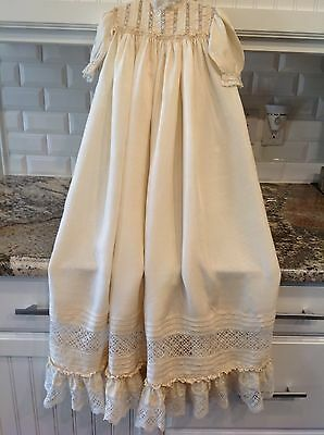 Gorgeous Antique Victorian Lace Christening Gown Dress