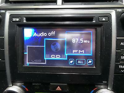 Toyota Camry Radio/cd/dvd/sat/tv Cd Player, Touch Screen, P/n On Face 100035, Ac
