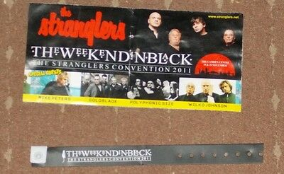 the stranglers 2011 convention flyer and wristband
