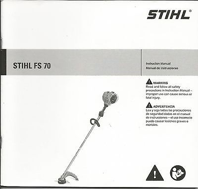 Stihl FS 70 String Trimmer Owners / Instruction Manual New