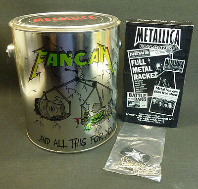 Metallica Fan Can #4 Fan Club Exclusive Metal Boxed Set Video & Dog Tags 2001