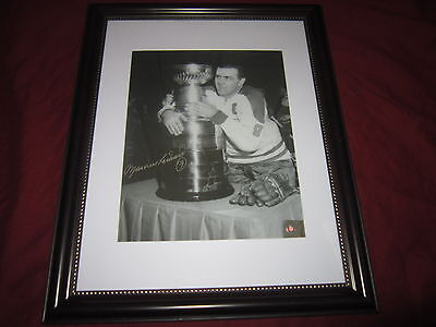 Maurice Richard Signed Montreal Canadiens AUTOGRAPHED framed 8 X 10 COA