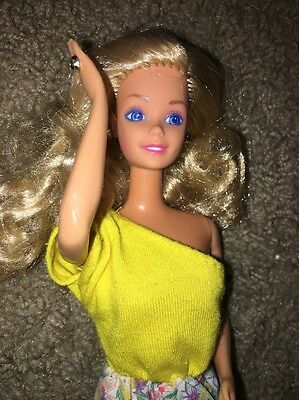 Beautiful Superstar Barbie Doll With Earrings, Ring Tagged Outfit Taiwan