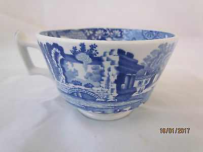 Vintage English Spode 'Italian' Blue and White Orphan Large Teacup