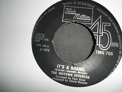 The Motown Spinners. Tmg755. Sweet Thing It's A Shame. Northern Soul