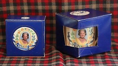 Boxed Ringtons Fine Bone China - Queen Mother decorative mug & trinket dish