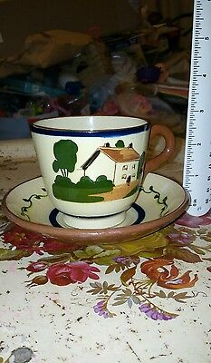 Watcombe torquay pottery cup and saucer