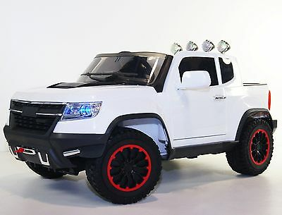 Kids ride on cars 12v Ride on Car Chevrolet style Colorado BJ1602 white Ride on