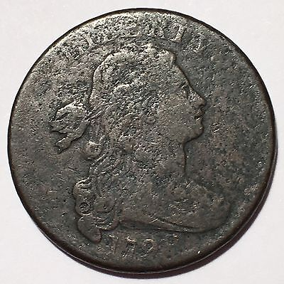 1798 Draped Bust large Cent, Style 2 Hair Rev Of 1797