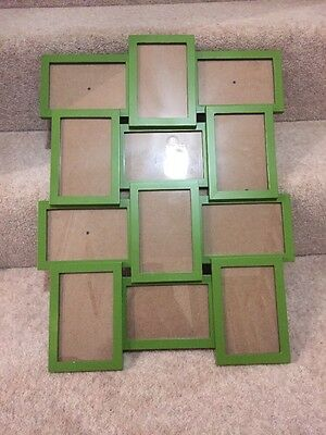 Green Picture Frame. Holds 12 6x4 Photos