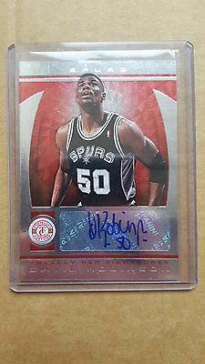 David Robinson /10 2013-14 Panini Totally Certified /10 red signatures VERY RARE
