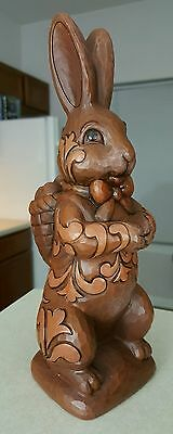 "Jim Shore Easter Bunny Statue ""Yummy Bunny"" 2010 Chocolate Look 4023995 9 Inch"