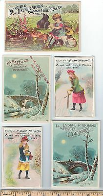 6 very old Erie PA Victorian Trade Ad Advertising Cards antique 1880s