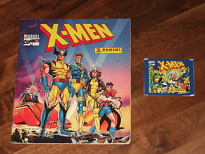 X-Men 1994 Complete Panini album, with all 216 Stickers neatly placed & more