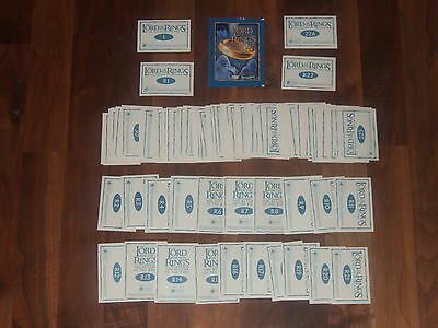1 x Complete Lord of The Rings,The Return Of The King 2003 Merlin Sticker set