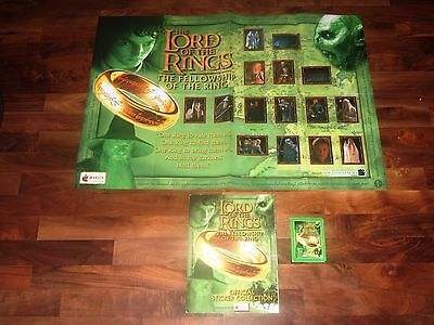 Lord of The Rings The Fellowship Of Ring 2001 Complete Merlin Album & Poster