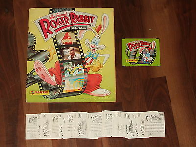 Who Framed Roger Rabbit 1988 Panini Complete Sticker Album & pack with a twist!!
