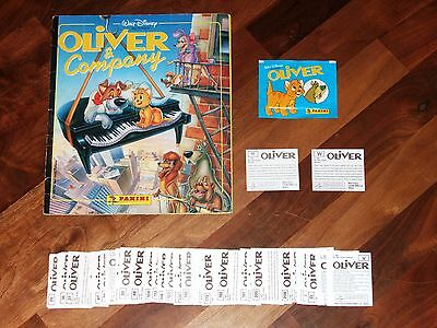 Oliver & Company Disney's 1988 nr-Complete Panini Sticker Album, packet & more