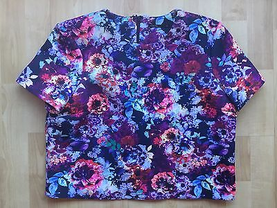 Women's Floral Patterned Purple Pink Blue Tokito Top Size 12