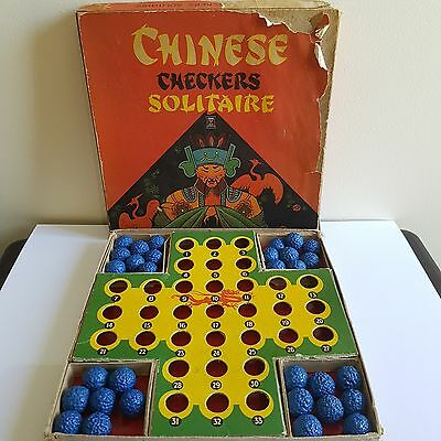 Vintage John Sands Chinese Checkers Solitaire Board Game