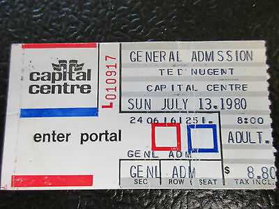 Ted Nugent concert ticket stub 1980 Scorpions Def Leppard