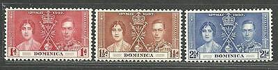 """Dominica 1937 Very Fine MH Stamps Set """" CORONATION ISSUE """""""