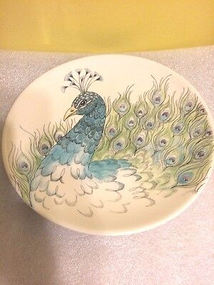 Edie Rose Peacock Collection Accent Plate