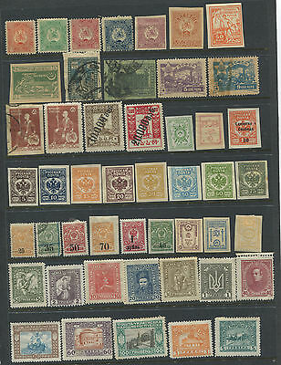 Mint And Cancelled Civil War Russia Collection 1917 To 1922