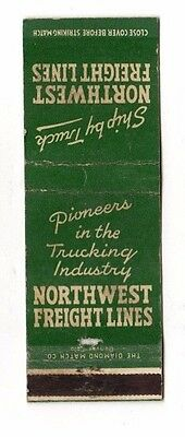 Northwest Freight Lines,Trucking Company,Advertising Matchbook Cover