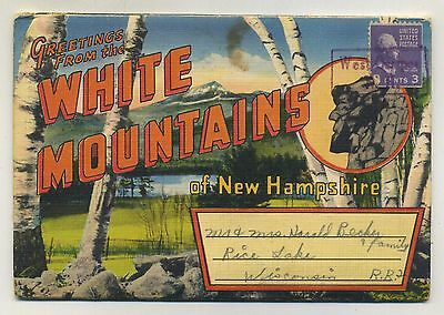 Vintage 1940's Postcard View Book WHITE MOUNTAINS, NEW HAMPSHIRE - Posted