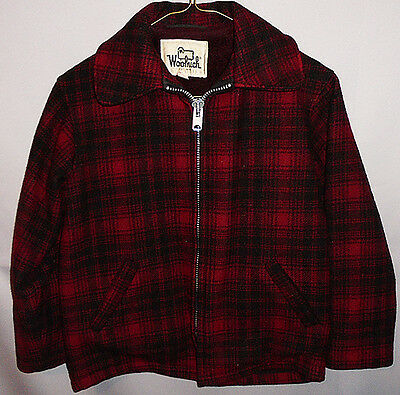 Vintage -Woolrich- Buffalo Plaid Boy's Wool Outdoors/Hunting Coat/Jacket - 10
