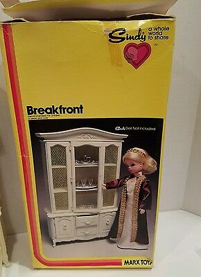 Vintage 1978 Sindy Breakfront China Cabinet Doll Furniture