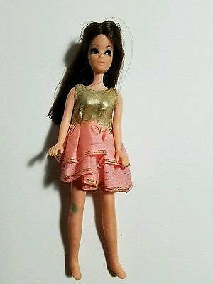 Topper Dawn Angie Doll Wearing Pink/gold Dress