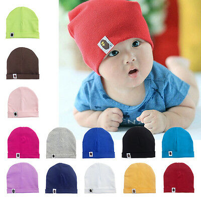 Unisex Cotton Beanie Hat For Newborn Kid Baby Boy Girl Soft Toddler Infant Cap