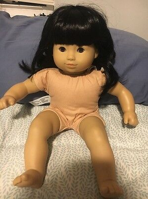 American Girl Bitty Baby Twin Girl Black Hair Brown Eyes Asian Retired