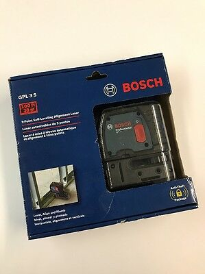 NEW SEALED!! Bosch GPL3 S 3-Point Self-Leveling Alignment Laser Level