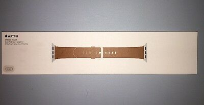 NEW Genuine Apple  Watch Band -  38MM Saddle Brown Classic Buckle - MMH92AM/A