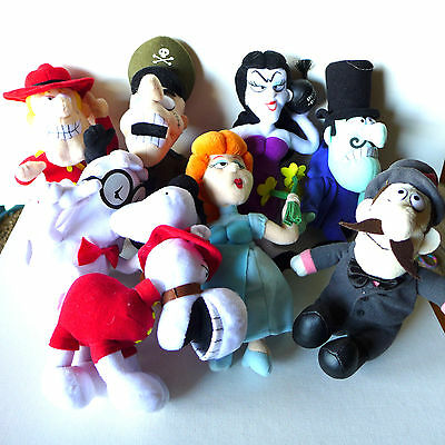 LOT of 8 STUFFINS BULLWINKLE & ROCKY Beanbag Plush Characters Exc. Condition !