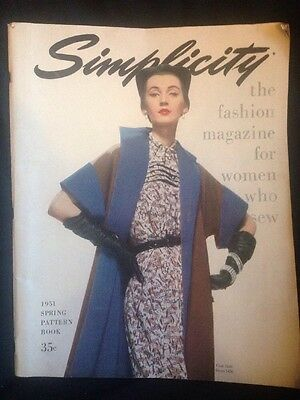Simplicity Fashion 1951 Spring Pattern Book / Magazine