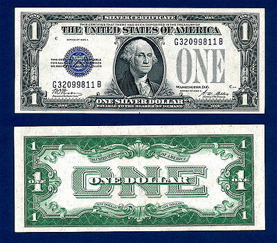 1928 A  Silver Certificate Funny Back Uncirculated Sharp And Crisp !  #2 Of 3