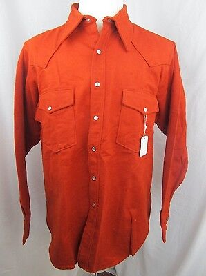NEW Vintage Holubar Mountaineering Chamois Flannel Shirt Western Pearl Snap XL
