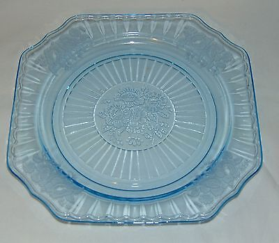 "Anchor Hocking MAYFAIR/OPEN ROSE BLUE *8 1/2"" LUNCHEON PLATE*"